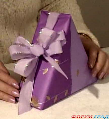 Как упаковать подарок тушь