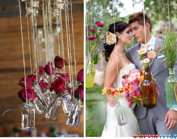 Примеры украшения свадьбы своими руками