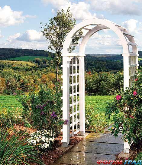 Как сделать арки для сада своими руками