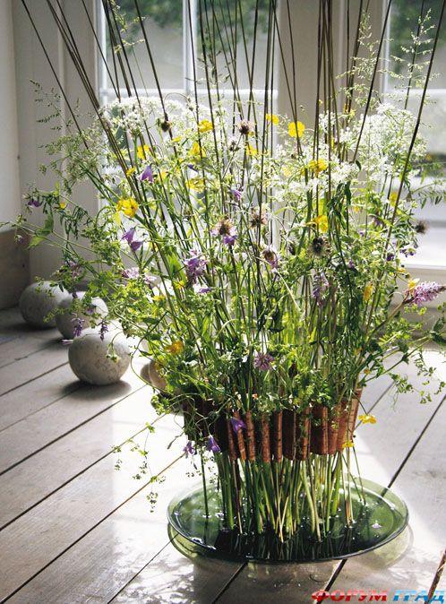 композиции из полевых цветов