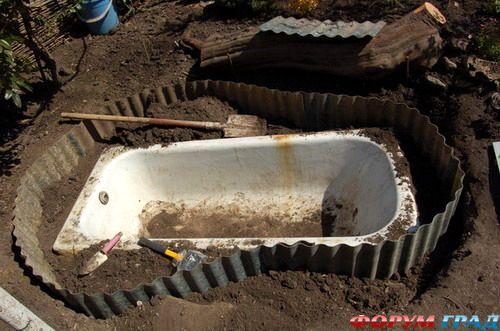 бассейн из ванны