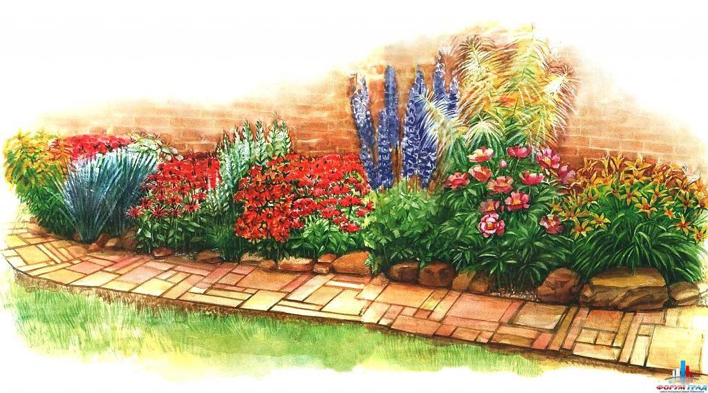 Цветники в стиле кантри фото