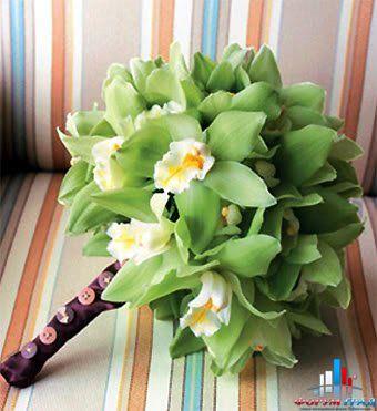 Как сделать букет из орхидеи и фрезии