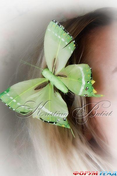 Бабочка своими руками из пера в