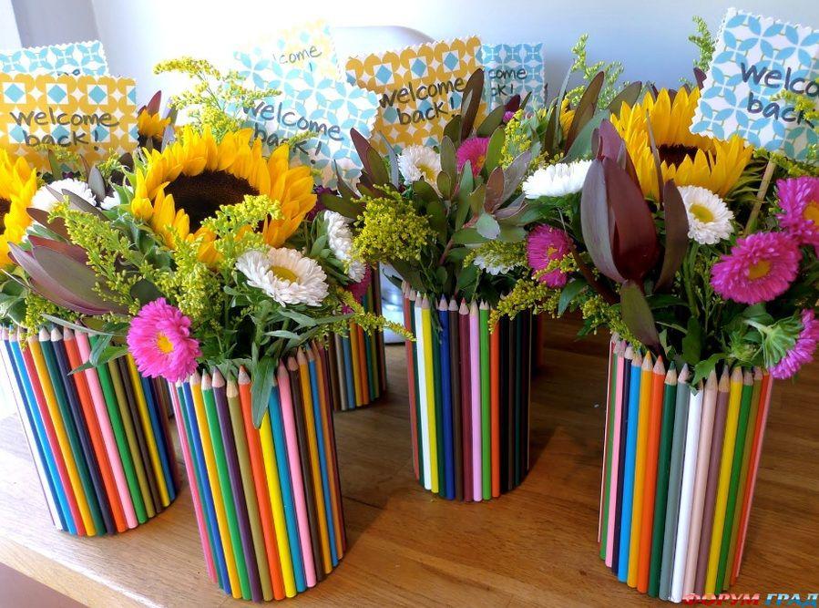 Композиции из цветов фото на 1 сентября