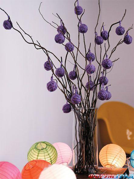 Декор для напольной вазы своими руками фото