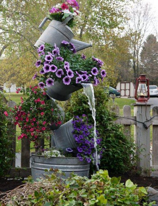 Декор садовых участков фото