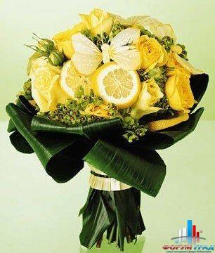Букеты с фруктами и цветами фото как сделать 116