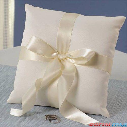 Подушки для колец своим руками