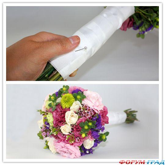 Свадебные букеты из цветов своими руками мастер класс