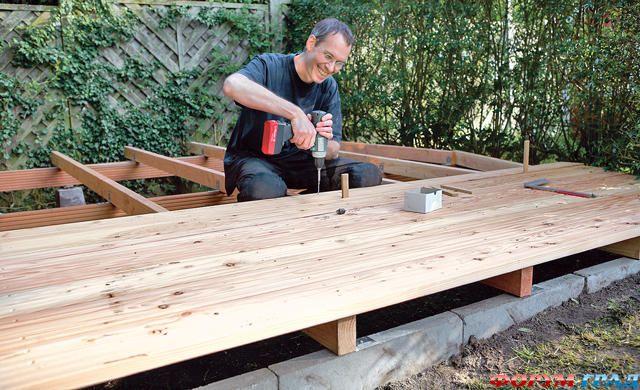 Как сделать террасу на даче своими руками фото