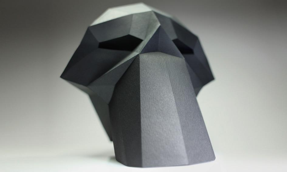 Оригинальный череп из бумаги
