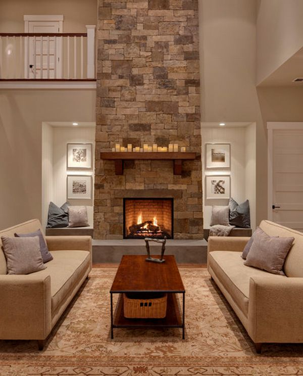 40 stone fireplace designs from classic to spac