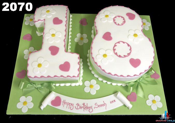 Как сделать торта в виде цифр
