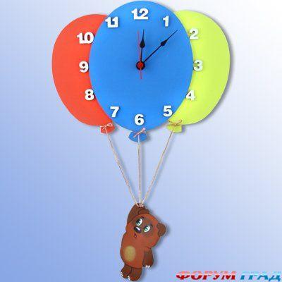 Часы своими руками для детей на стену
