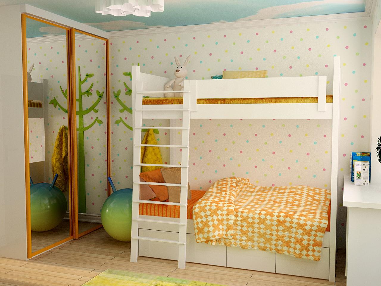Детская в стиле классический - фото и дизайн на vivbo.ru.