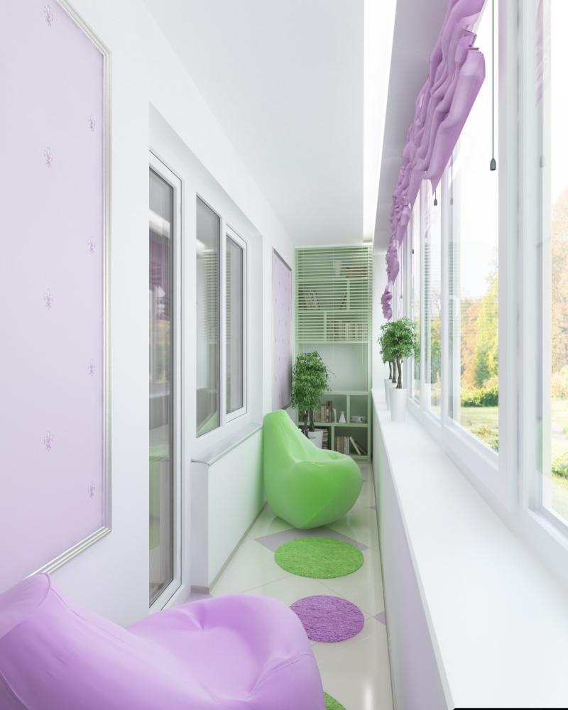 Детская на балконе дизайн фото