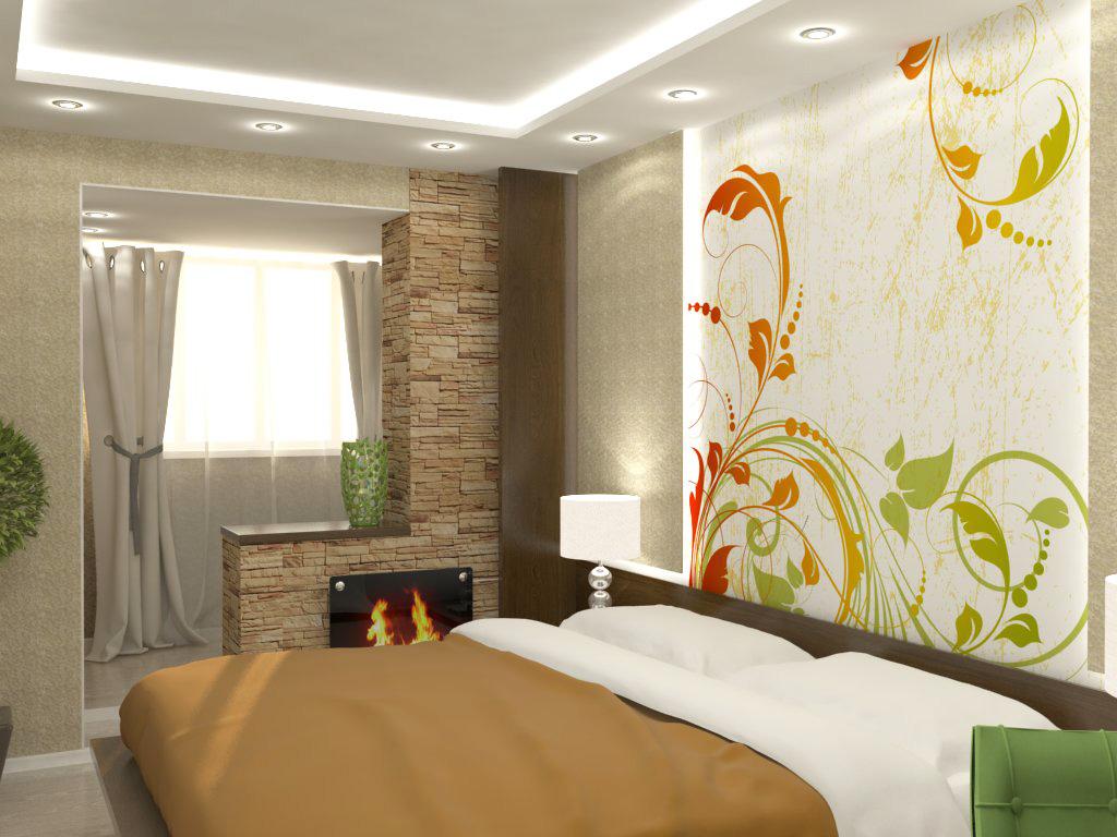 Спальня на балконе или лоджии фото дизайн