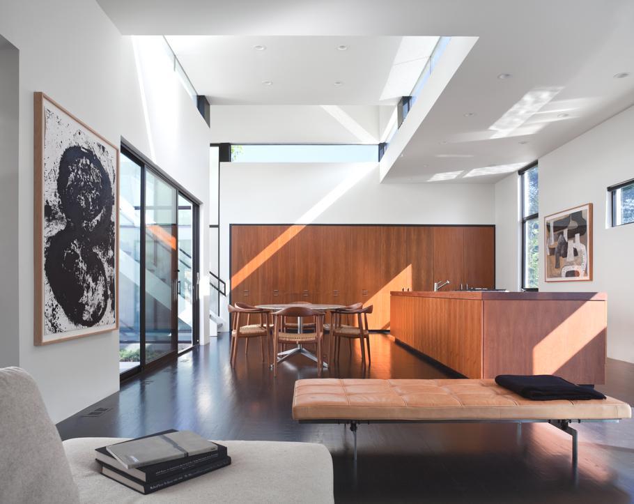 Американские дома: стильный Jigsaw Residence в Мэриленде