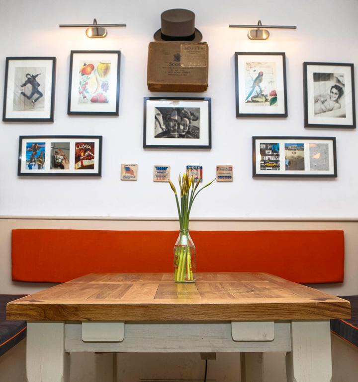 Кафе The Attendant от Pete Tomlinson и Ben Russel, Лондон, Великобритания