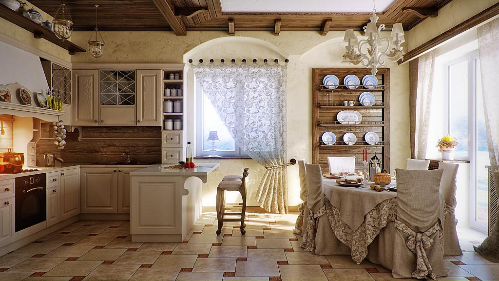 Интерьер в стиле кантри фото кухня
