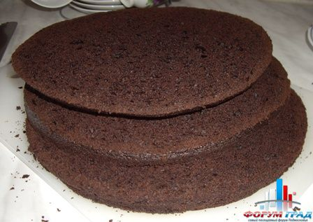Воздушный шоколадный бисквит для торта рецепт пошагово