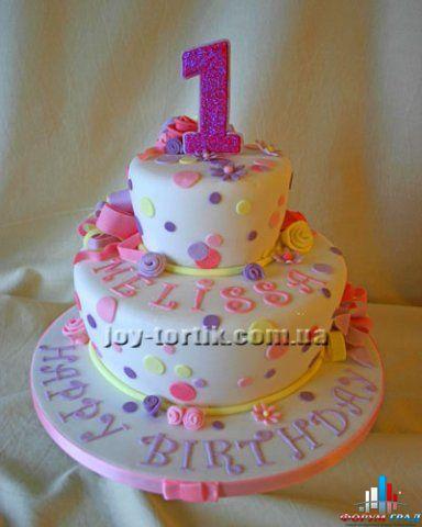 2. Детский торт малышу на годик.