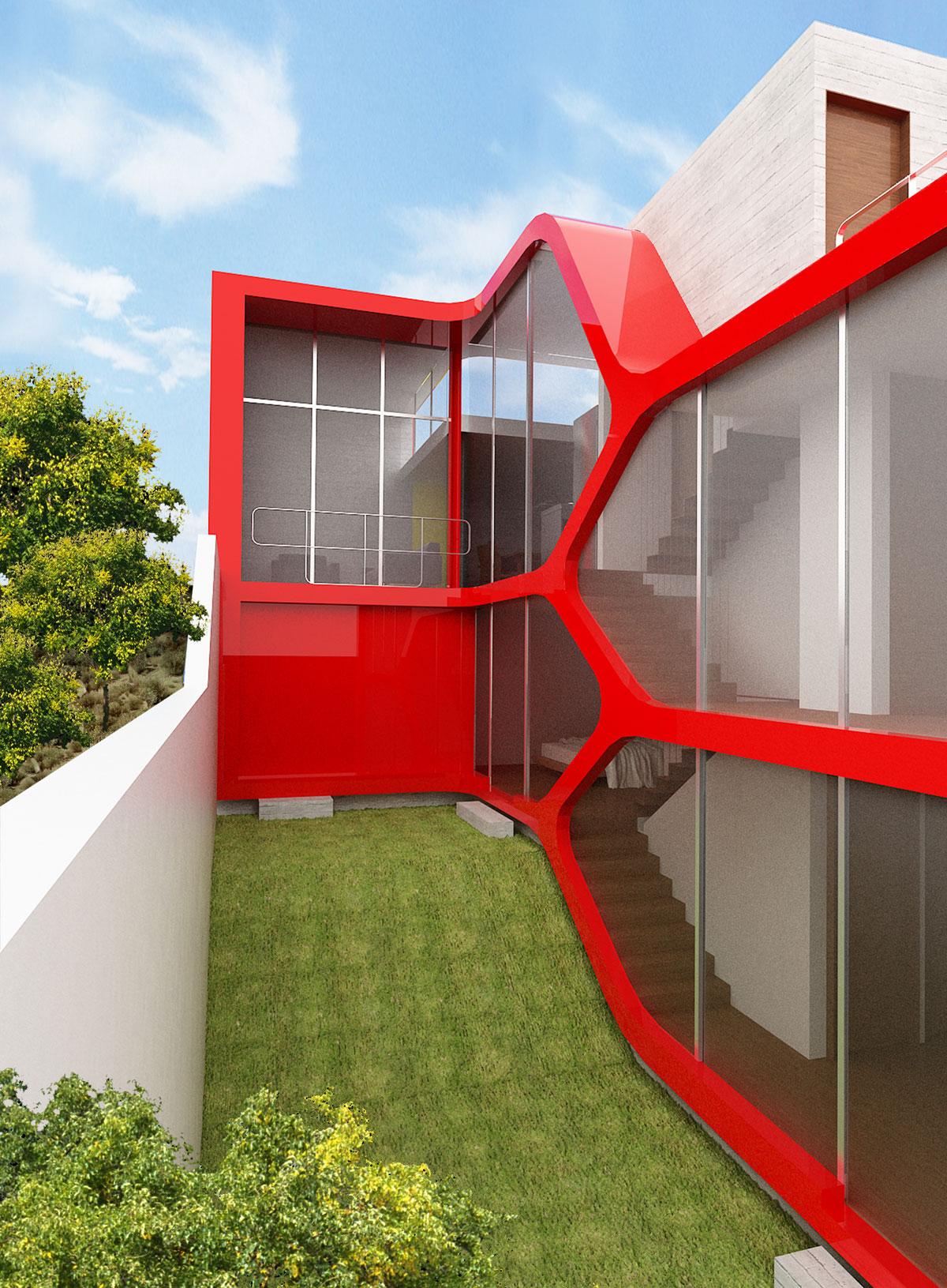 Красивый загородный дом в авангардном стиле