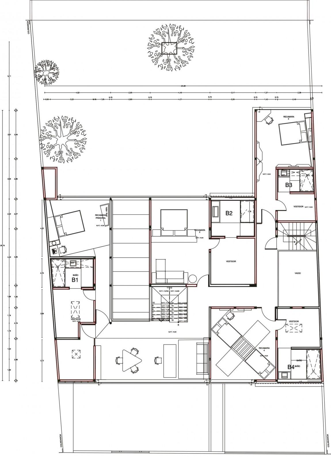 Проект дома для большой семьи: яркий мексиканский Casa A