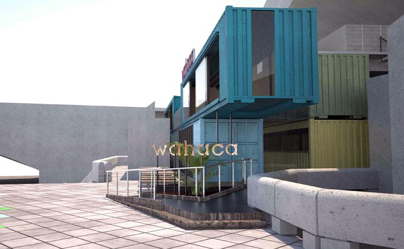Ресторан Wahaca shipping из контейнеров в Лондоне