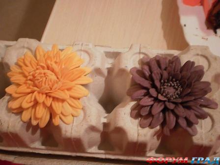Как сделать хризантему из мастики фото 640