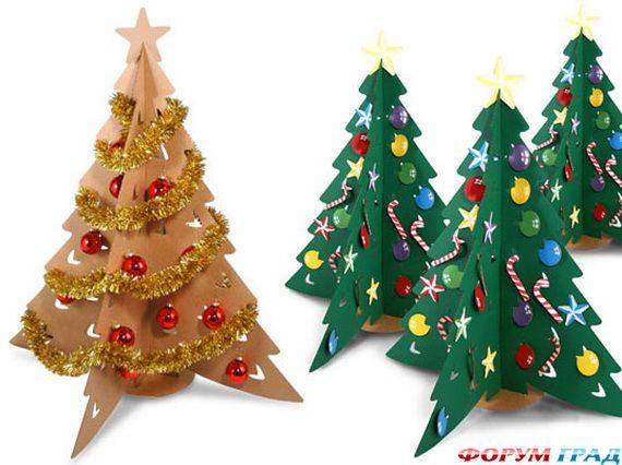 Рождественские украшения из бумаги своими руками