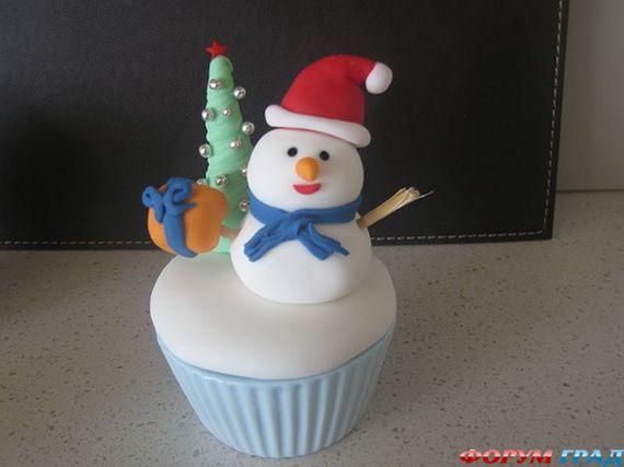 Кекс снеговик