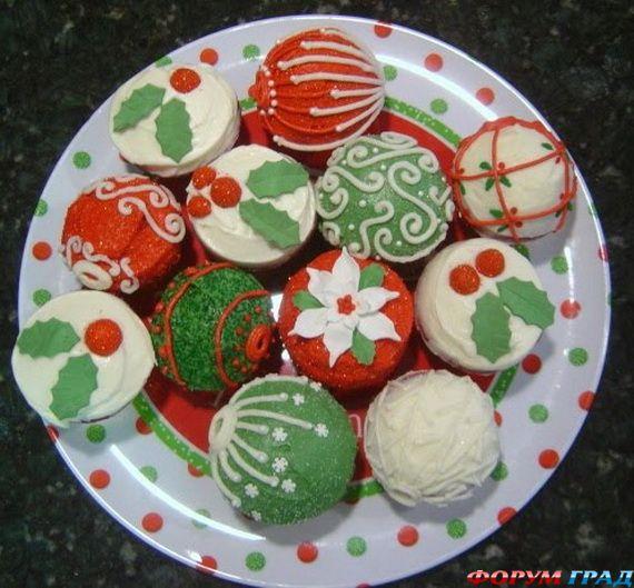 Украшение рождественских кексов