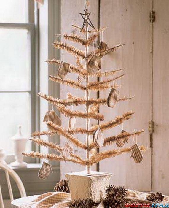 Настольные новогодние елочки своими руками