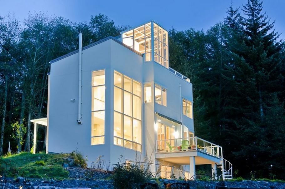 Необычные частные дома: Thomas Eco-House с креативным «лифтом»