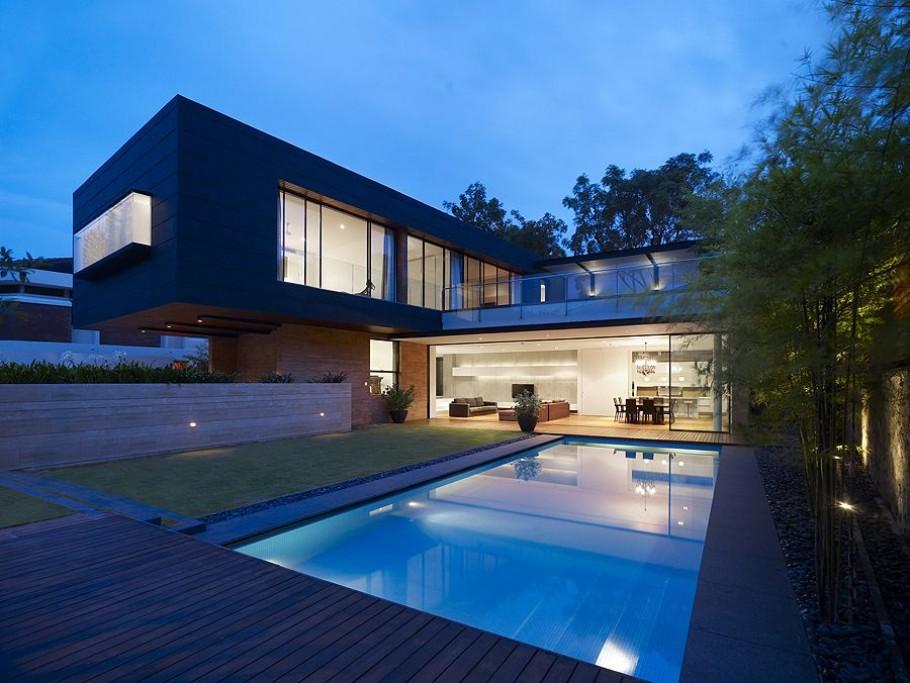 Очаровательная зелёная терраса на крыше частного дома