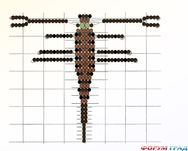 Бисероплетение скорпион - Делаем фенечки своими руками.