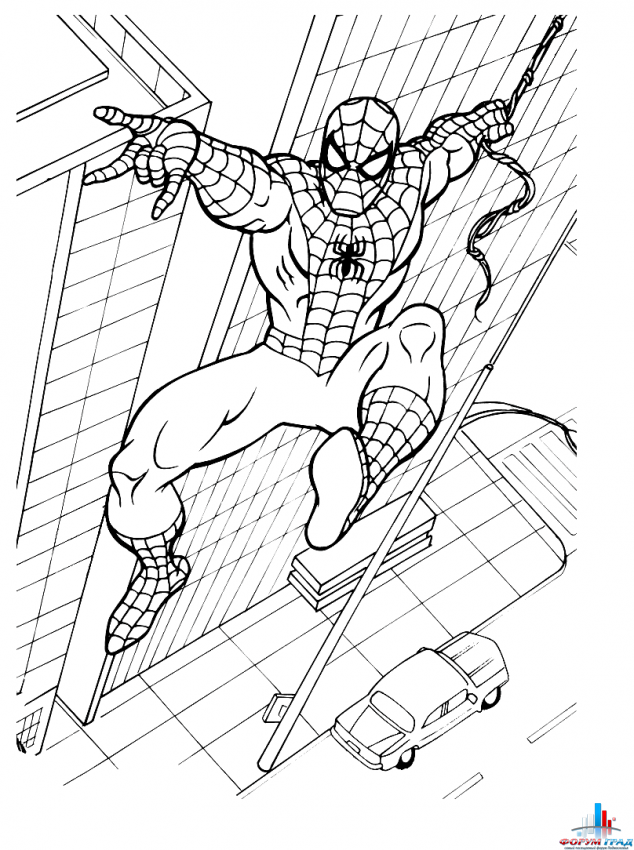 Игры человек паук раскраски для детей 199