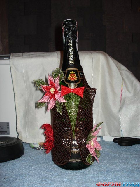 Вязаная одежда для бутылок