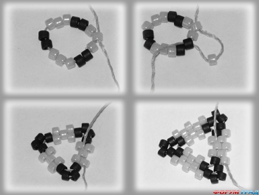 прямое плетение из бисера_схема мотоцикл - Микросхемы.
