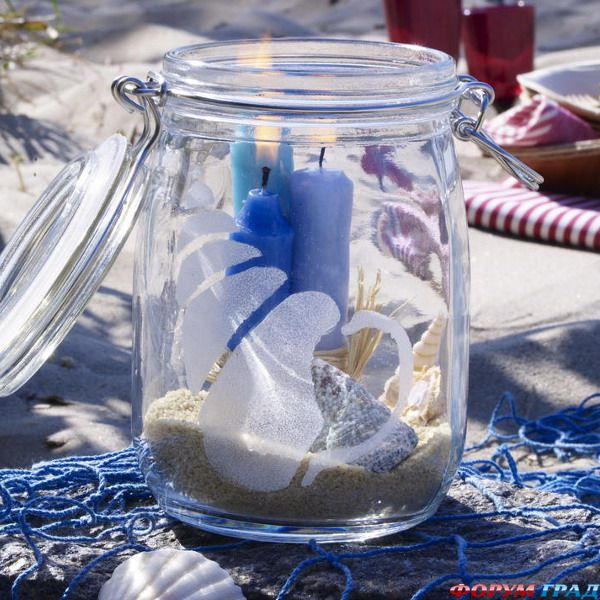 Свеча в морском стиле