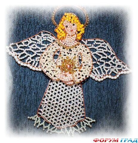 бисероплетение ангела - Вышивка бисером.