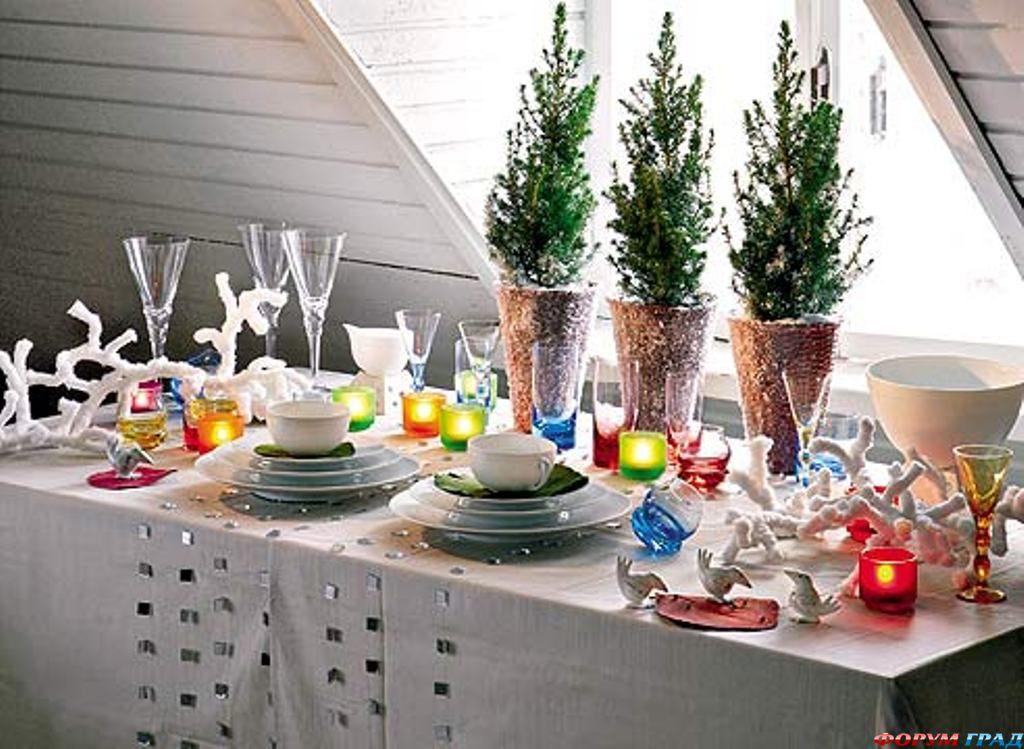 Сервировка стола к новому году 2015 своими руками фото