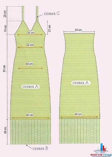 Сшить платье комбинацию без выкройки 89