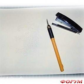 схема конструкции канцелярского степлера