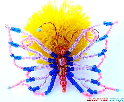 Ажурная бабочка и схема к ней