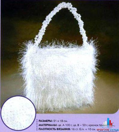 """вязать элегантную вечернюю сумочку с  """"шишечками """". по этой ссылке. в которую она положит помаду, зеркальце и..."""