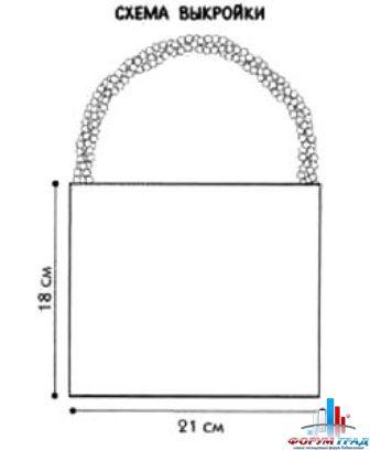 Вязание крючком ручек для сумок