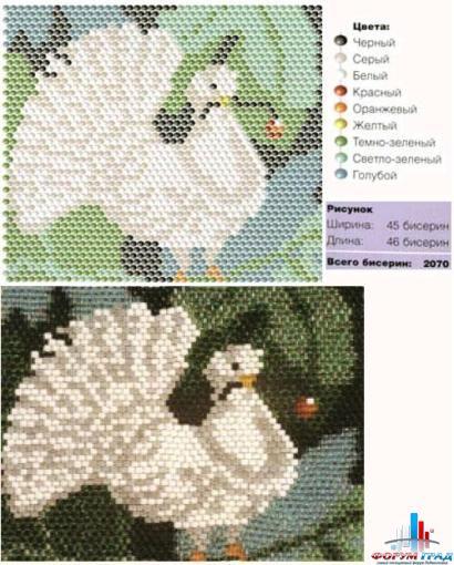 схема плетения флага из бисера - Мир Бисера.